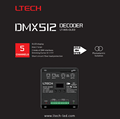 LTECH LT-905-OLED best selling products DMX-PWM decoder controller driver