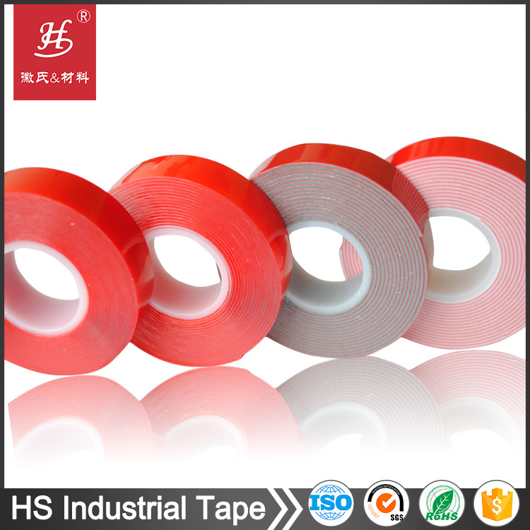 Double sided acrylic foam VHB tape with red silicone liner