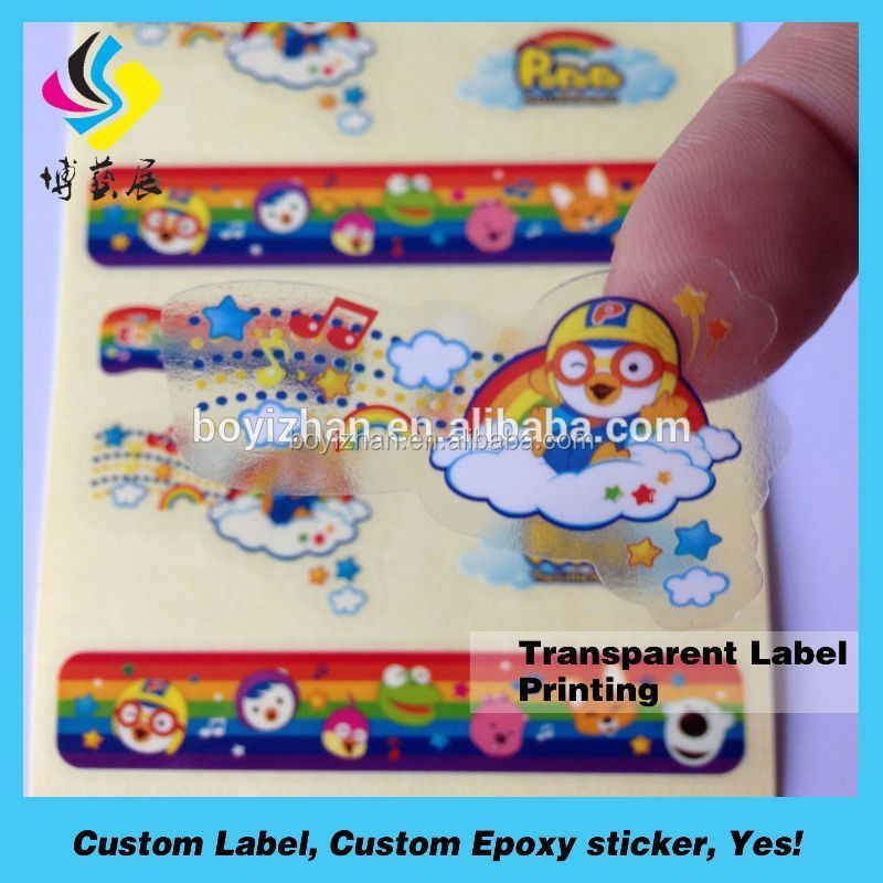 Easy peel off back paper half cut fancy self adhesive label sticker