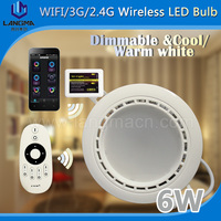 alibaba hot sale 6w langma wireless control Aluminum housing 80mm cut out led downlight