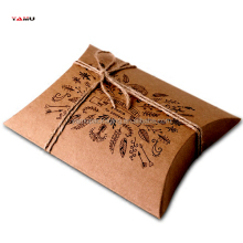 Pastoral wind kraft paper pillow box hand painted printed gift wrapping carton nougat packaging box