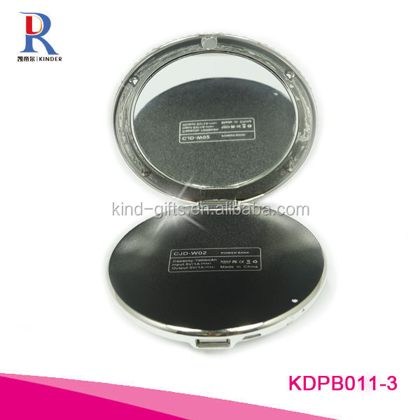 Private label competitive price Promotion Power Bank Gift Makeup Mirror power bank