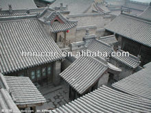 Chinese clay roofing cover with grey tiles