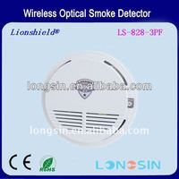Wireless Optical Smoke detector(9VDC) sound and flash alarm