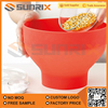Collapsible Microwave Hot Air Red Silicone Popcorn Popper Bowl