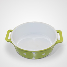 Latest New Ceramic Soup Coloured Glaze Oven Baking Tray