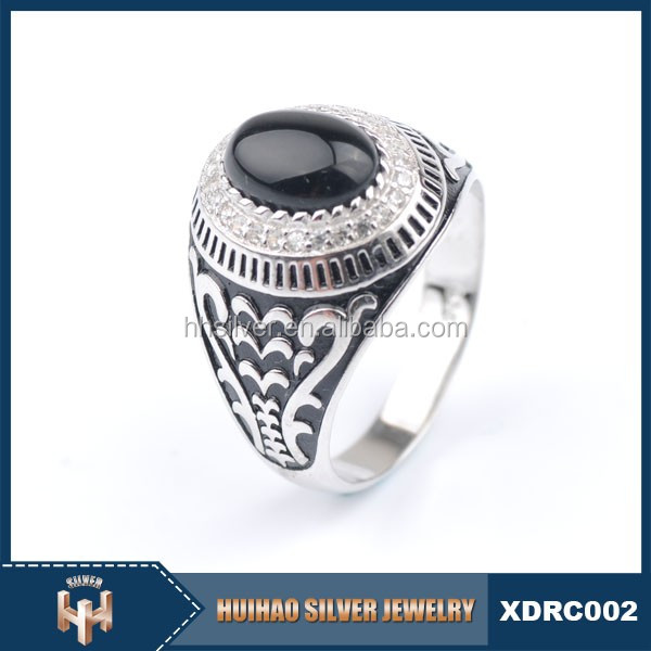 crazy hot sale 2016 new design muslim stylish stone man silver ring s925