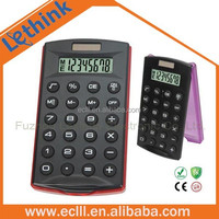 8 digit plastic dual power calculator with flip cover