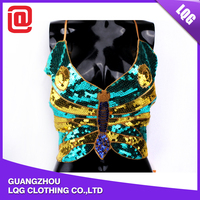 Sexy handmade colorful sequin sexy girls night club wear