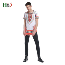 Free Shipping H &D 2017 Hot Sale Fashion African Traditional Clothing Sport Clothes Dashiki Shirt For Man