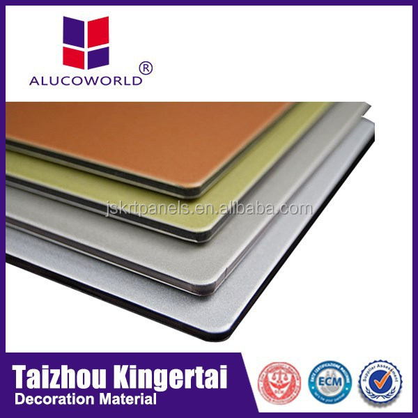 Alucoworld Exquisite Workmanship Aluminum Composite Panel fireproof and waterproof plywood acp