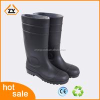 2016 TOP sale wellington rain boots pvc wholesale welly with steel toe insert garden knee gumboots