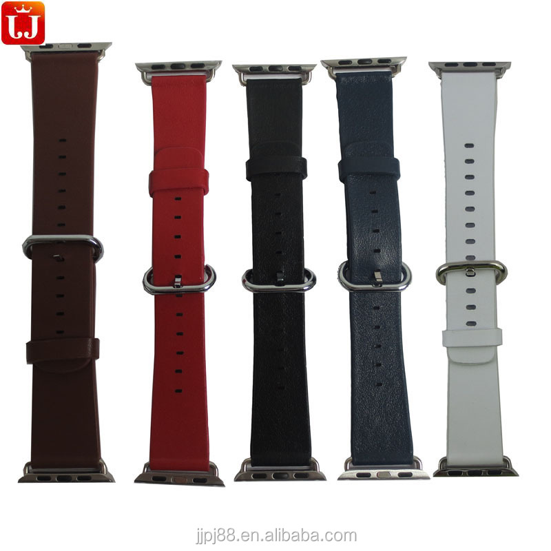 Modern Genuine Leather Watchband Strap for Apple Watch OEM Factory Wholesale