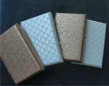 decorative acoustic wall panels/fireproof fiberglass wall panels with glass fibre