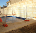 Clear View Removable temporary Swimming Pool Mesh Barrier/Standard size swimming pool fence panel with plastic feet
