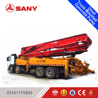 SANY SY5411THB45 2005 Year 45m Used Stationary Concrete Truck Pump for Sale