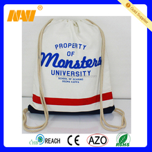 Promotional natural cotton canvas drawstring bag