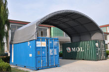 Shipping Container tent , temporary storage shelter , Industrial Warehouse Tent
