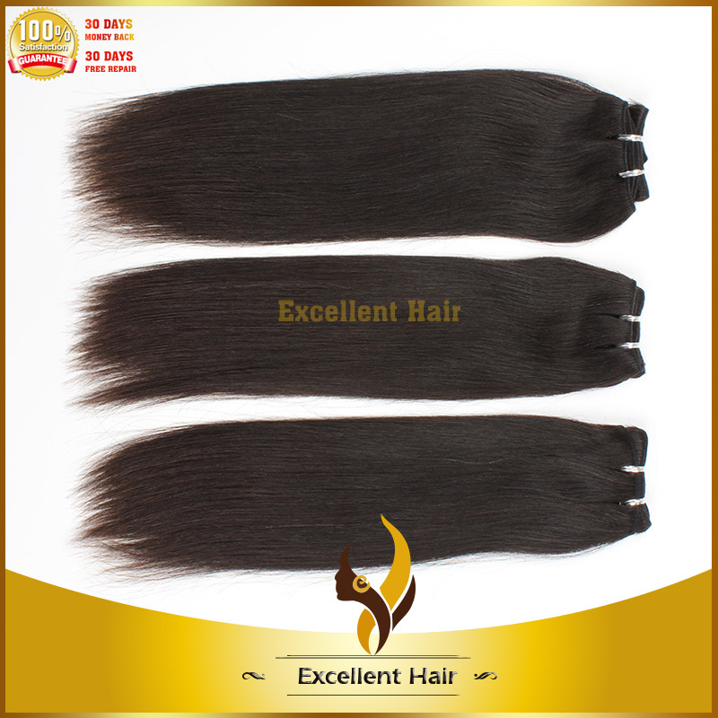 without chemical processed available natural color 16'' double weft best quality brazilian straight hair