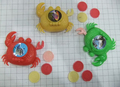 China factory price crab shape saucer lovely toys by kids good promotion gifts with food
