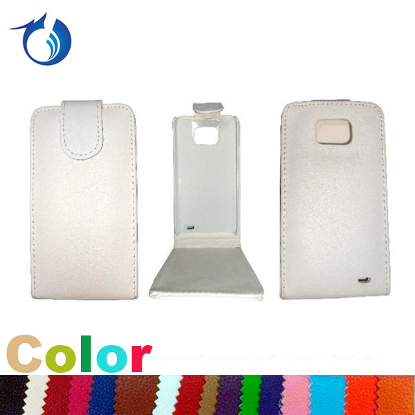 White Vertical PU Leather Flip Case For Samsung Galaxy S2 i9100
