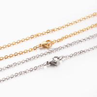 "17.7"" 304 Stainless Steel Cross Chains Mixed Necklaces Making"