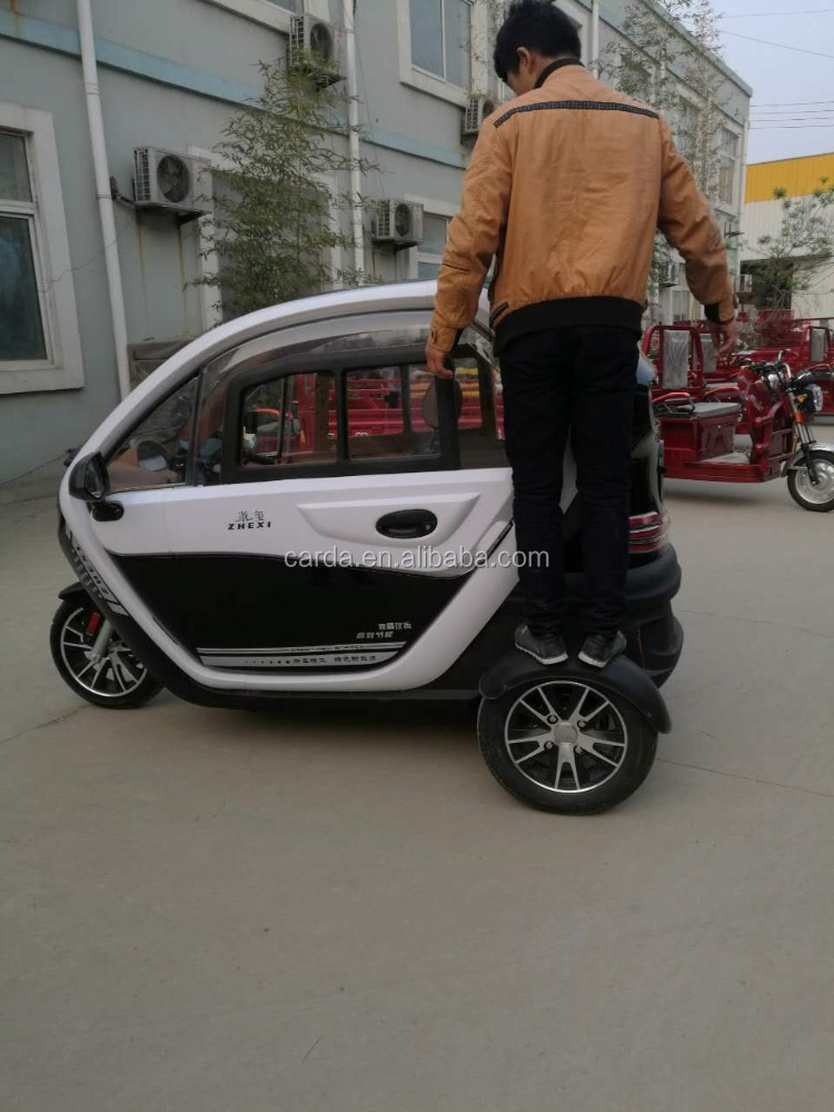 high qulity full closed electric tricycle with heater for elder/handicapped with reverse video
