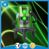 High quality outdoor construction green cross line laser level machine for floor
