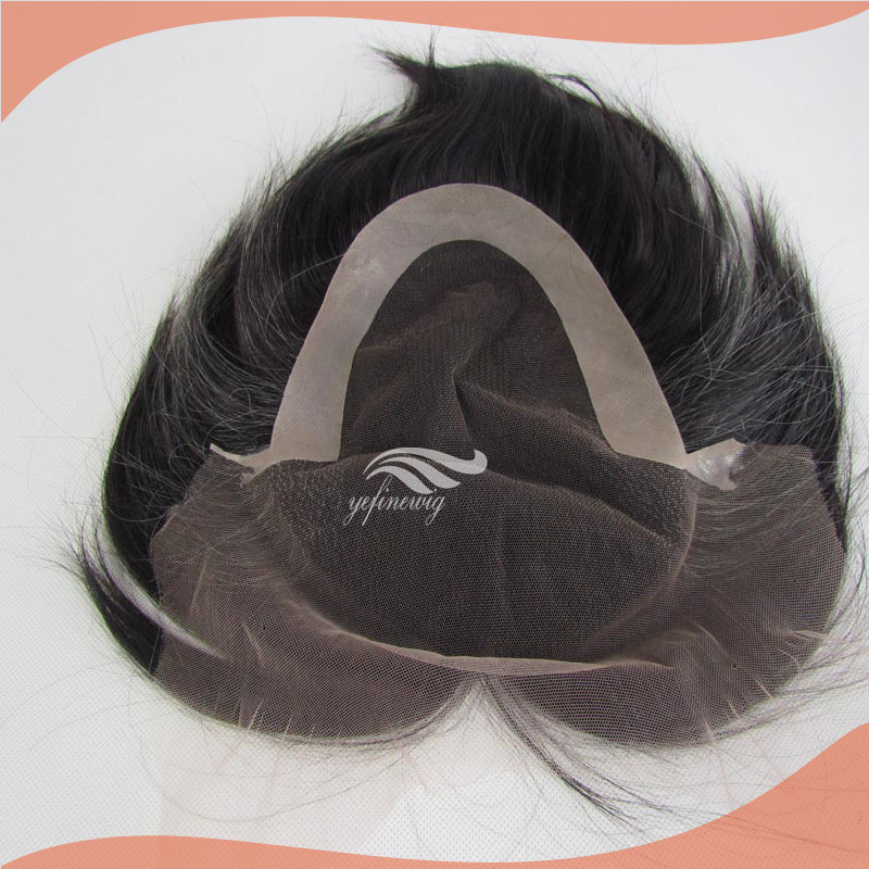 full lace hair system brown human hair replacement mens toupee