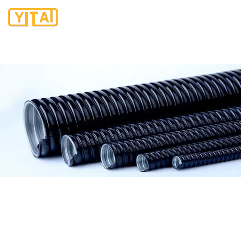 corrugated surface plastic coated flexible cable conduit