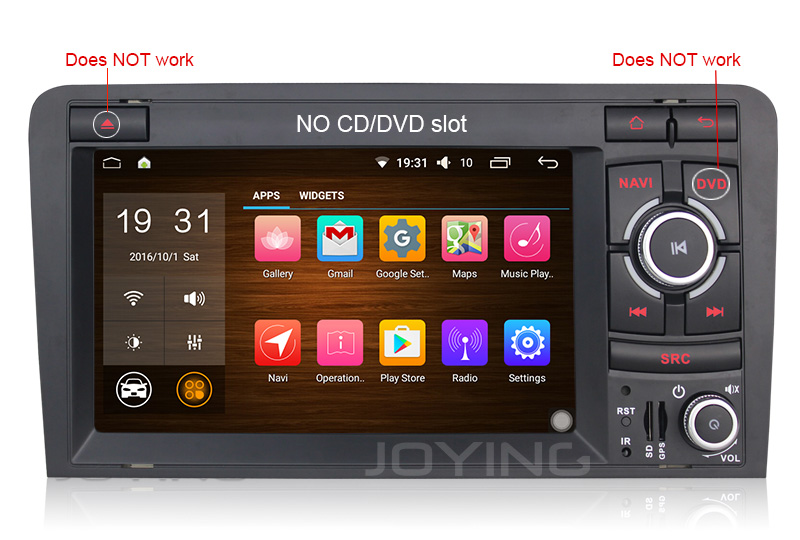 Double Din Stereo For A3 7 Inch Mirror Link Android Car Radio With Car Gps Navigation System