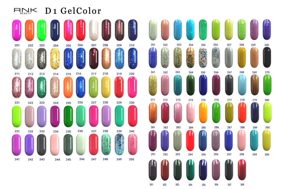 RNK factory price cheap wholesale gel polish 308 colors RNK wholesale uv/led nail gel polish