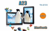 2014 newest 7 inch tablet A23 Dual Core tablet with virous cartoon back cover for good gifts