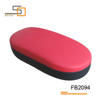 Hot sell Red/Black PVC material hard glasses case/optical cases