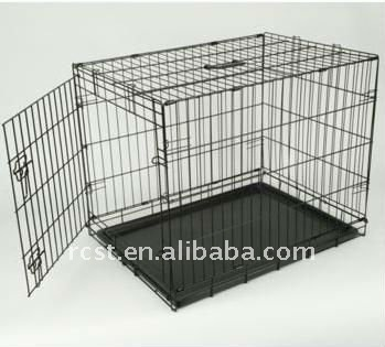 collapsible steel pet dog cage crate
