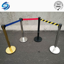 black recoil belt cheap crowd control stanchions automatic traffic barrier