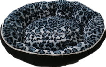 The 2017 Hot sale blue Panther grain color warm high quality PV plush pet bed for lovely dog
