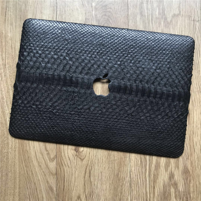 New Fashion Genuine Python Leather Protected Cover Case for Macbook Laptop