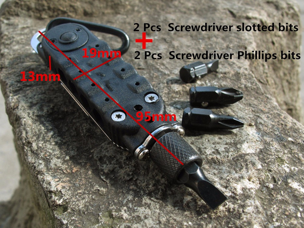 Magic Multifunction Screwdriver Sets MiniTools Portable Pocket Keychain Screwdriver With Phillips Slot Hex Screwdriver LED Light