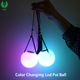 Custom Juggling Soft Plastic Led Poi Ball With Color Changing