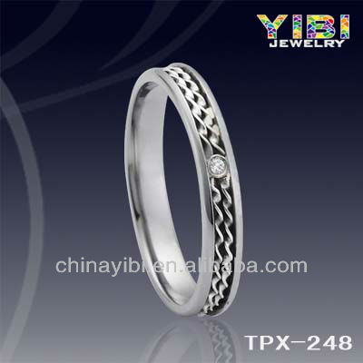 2014 wholesale cheap gold plating fashion jewelry,unique men pipe cut ring