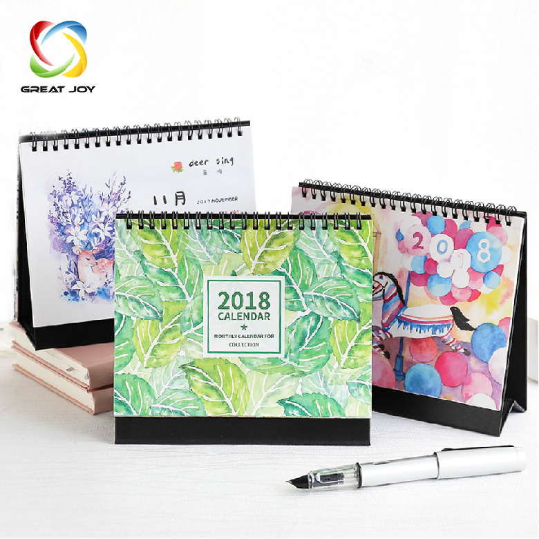 custom cardboard colorful printing 365 day desk perpetual calendar