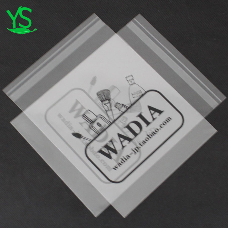 China Dongyang clear design your own small clear custom label plastic bag