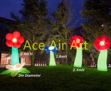 2017 the latest inflatable standing LED Bulb tree lamp for family and community wedding decoration