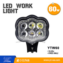 2016 NEW 6 inch 60w headlight 4800lm 12 volt offroad led work lights for j-eep truck