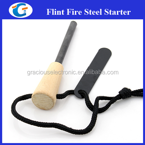 Campping Survival Tactical Pocket Tool Wooden Fire Starter 8MM