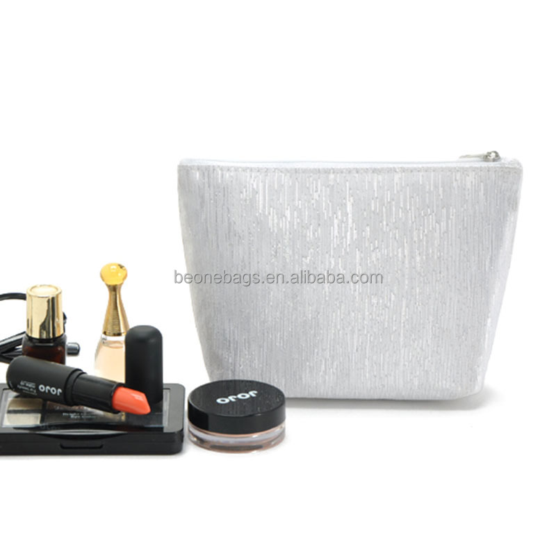 Silver Shining Sequin Cosmetic Bag