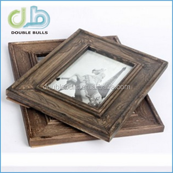 Custom Retro Wooden Picture Frame with Stand for 5x7 Sized Pictures