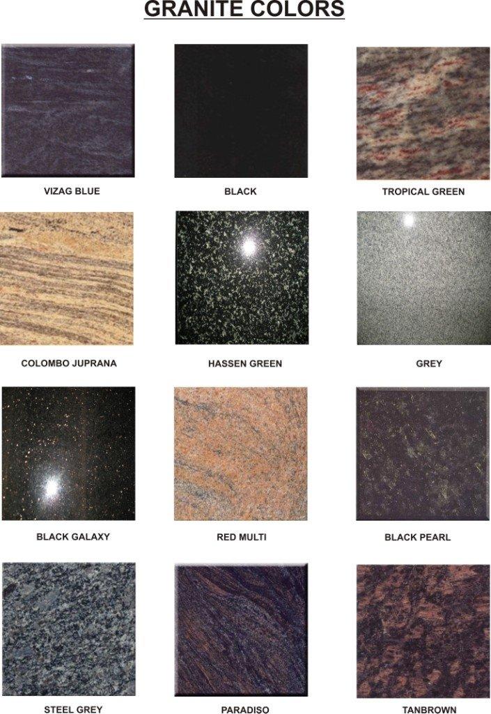 Granito colores granito identificaci n del producto for Granito pulido colores