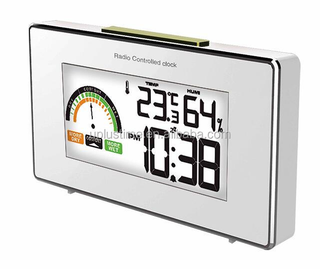 2016 design desk table clock household weather station with indoor thermometer and hygrometer for home gift